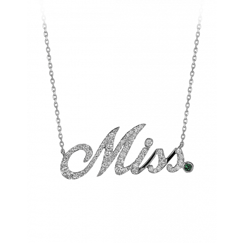 White Gold Miss Necklace