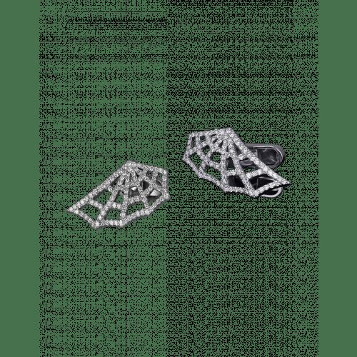 Jacob's Web White Gold Pave Diamond Cufflinks