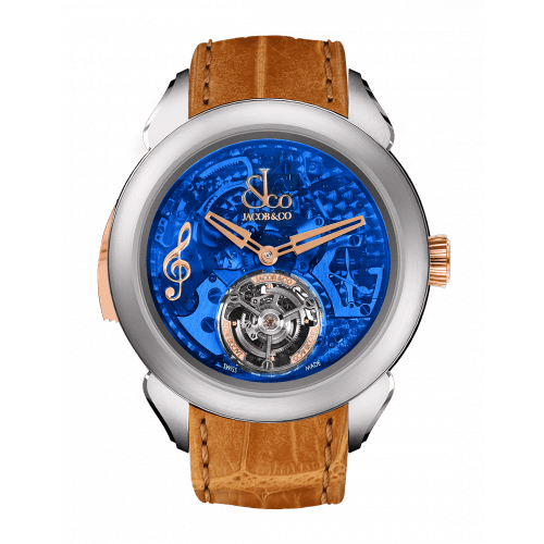 Palatial Flying Tourbillon Minute Repeater Titanium (Blue Mineral Crystal)