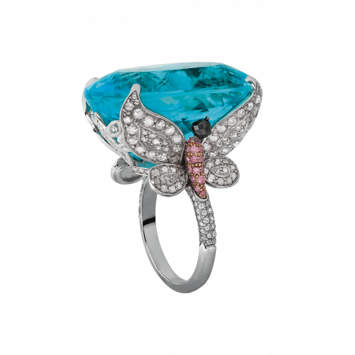 Paraiba Tourmaline Cocktail Ring