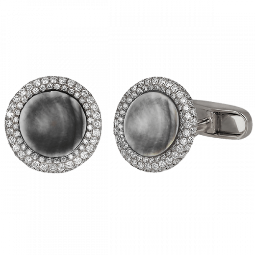 Circular Diamond Cufflinks