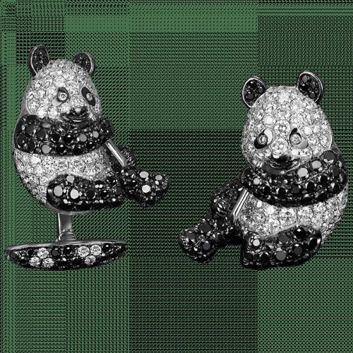 Panda Bear Eating Bamboo Cufflinks