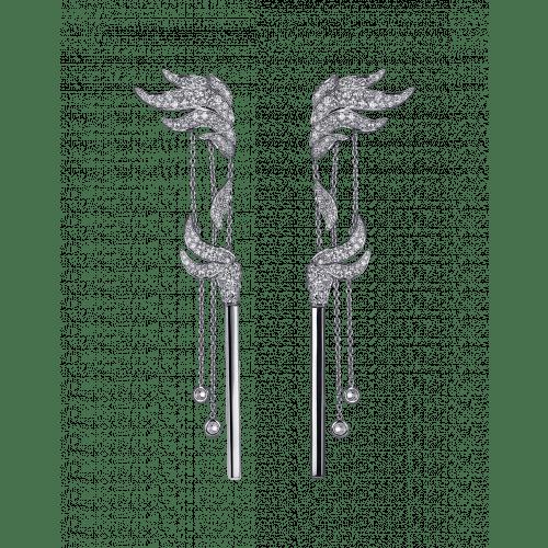 White Diamond Match Earrings