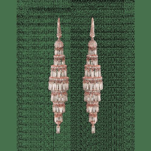 Lustre Medium Diamond Chandelier Earrings
