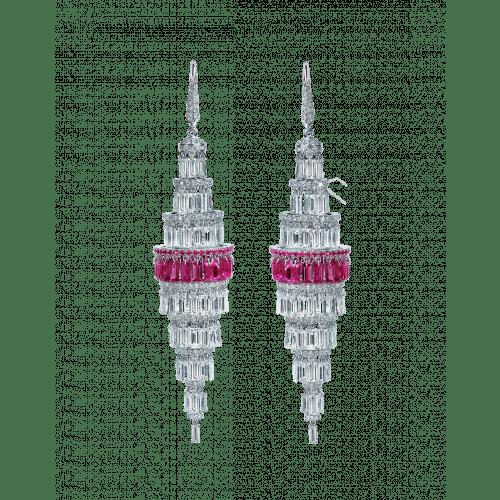 Lustre Large Diamond Chandelier Earrings