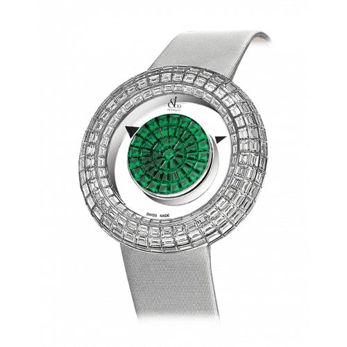 Brilliant Mystery Baguette Emeralds (38MM)