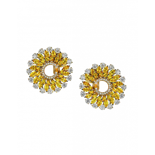 Yellow Sapphire Infinia Earrings