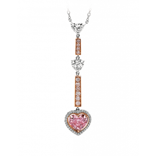 Three Heart Diamond Necklace