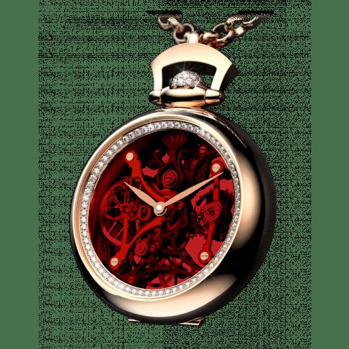 Brilliant Pocket Watch Pendant Red