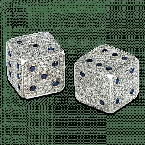 Diamond Dice White Gold