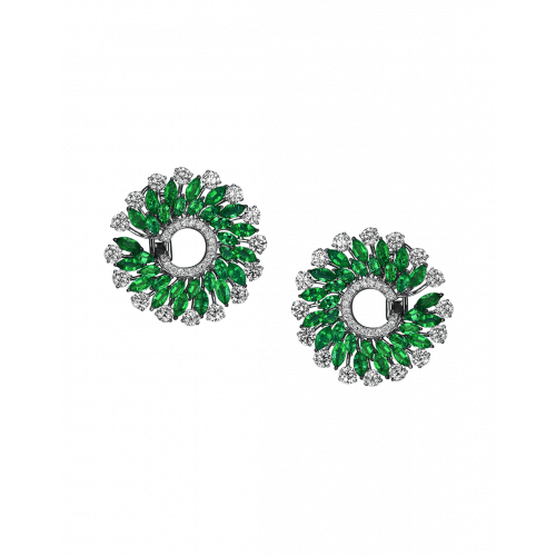 Emerald Infinia Earrings Small