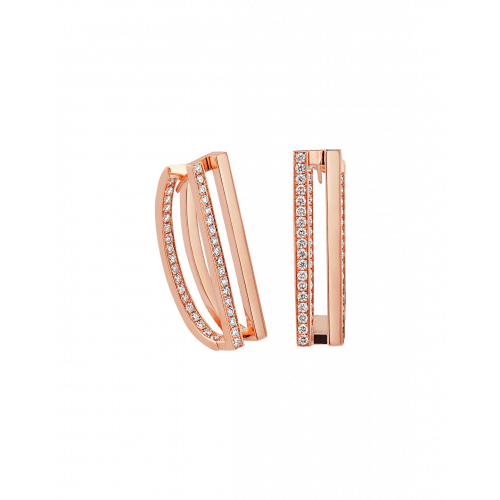 Nima's Classic Earrings Rose Gold Half Pave