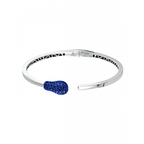 White Gold Sapphire Match Cuff Bracelet