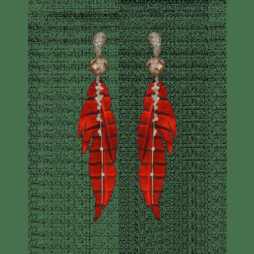 St. Barths Red Leaf Earrings