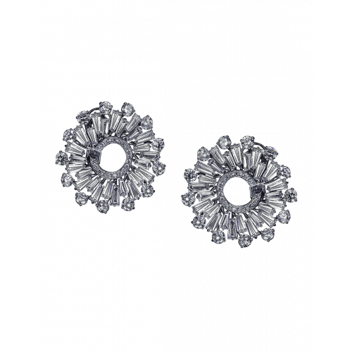 Baguette Cut Diamonds Earrings