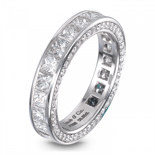 Princess-Cut Eternity Band