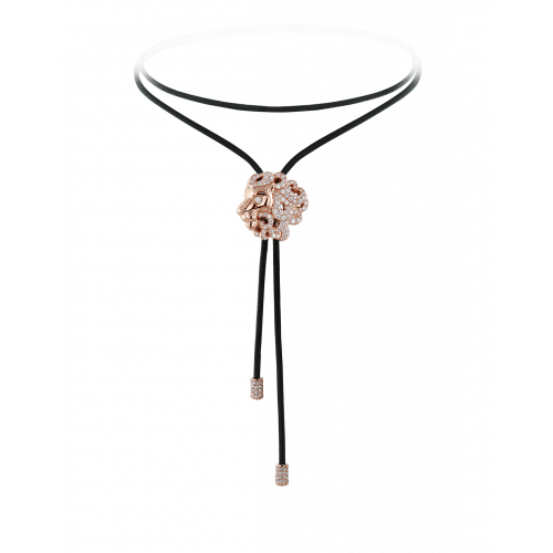 Zodiac Leo String Necklace Rose Gold Diamond