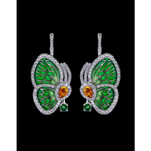 GREEN TOPAZ PAPILLON SMALL EARRINGS