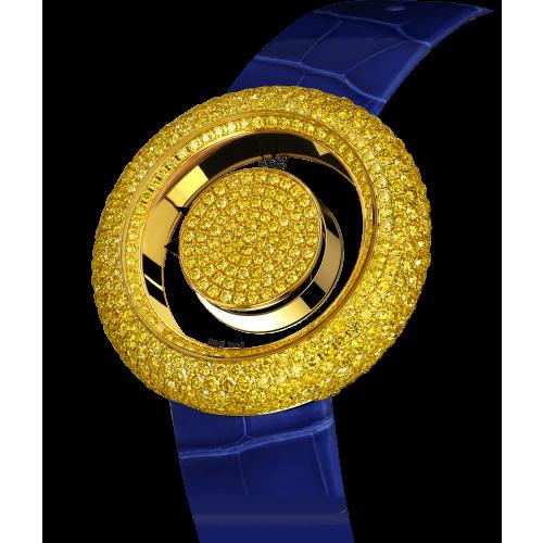 Brilliant Mystery Pave Yellow Diamonds (44MM)