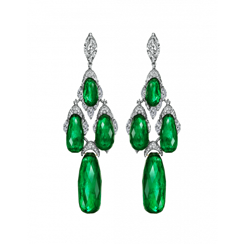Colombian Emerald Briolette Earrings
