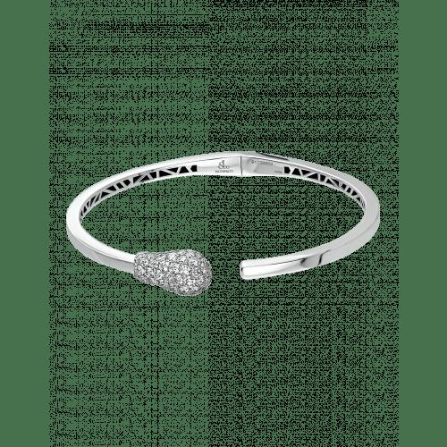 White Gold Diamond Match Cuff Bracelet