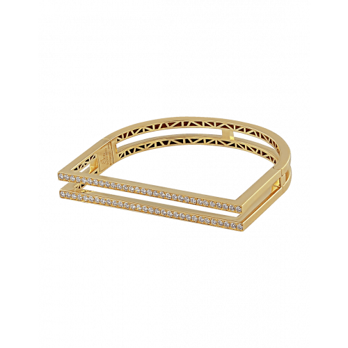 Nima's Classic Bracelet Yellow Gold Full Pave