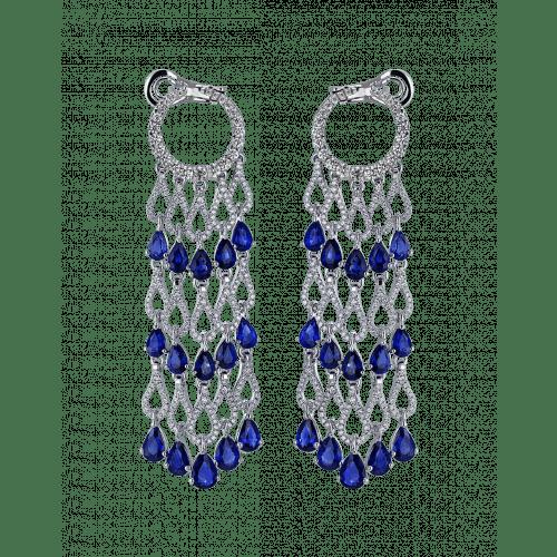 Talia Sapphire Diamond Chandelier Earrings
