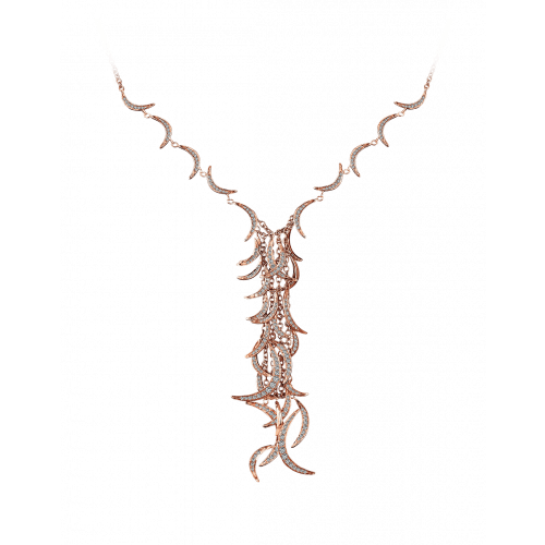 Jacob's Plume Necklace 270 Brilliant Cut Diamonds