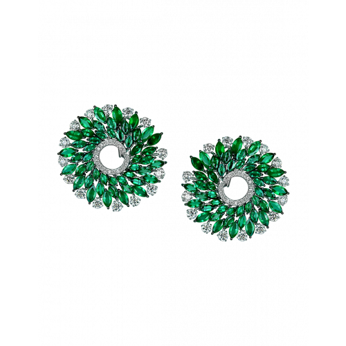 Emerald Infinia Earrings Large