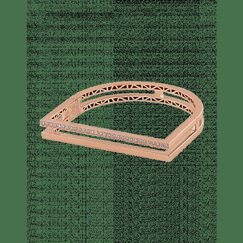 Nima's Classic Bracelet Rose Gold Half Pave