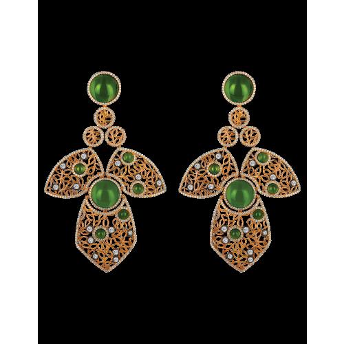 Nadira Rose Gold Earrings