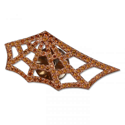 Spider Web Stick Pin Rose Gold