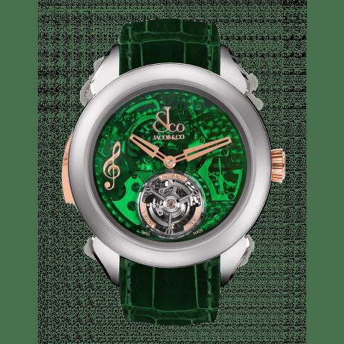 Palatial Flying Tourbillon Minute Repeater Titanium (Green Mineral Crystal)