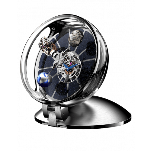 Astronomia Table Clock Stainless Steel