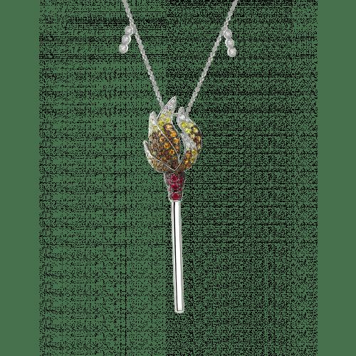 White Gold Multicolor Match Necklace