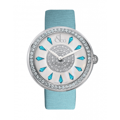 Brilliant One Row Icy Blue Sapphires 38mm