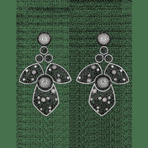 Nadira Black Earrings