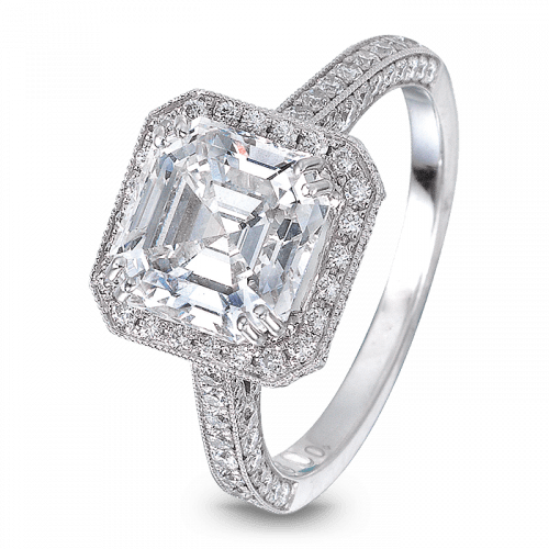 Square Emerald-Cut Solitaire