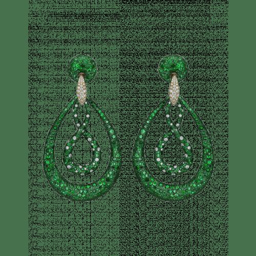 Titanium Glam Loop Circular Earrings