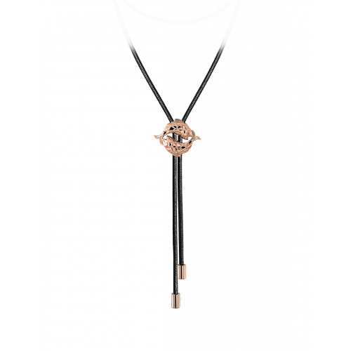 Zodiac Pisces String Necklace Rose Gold