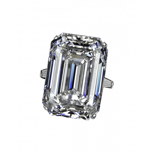 Exceptional Emerald Cut Diamond Ring