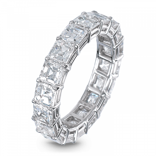 Emerald-Cut Eternity Band