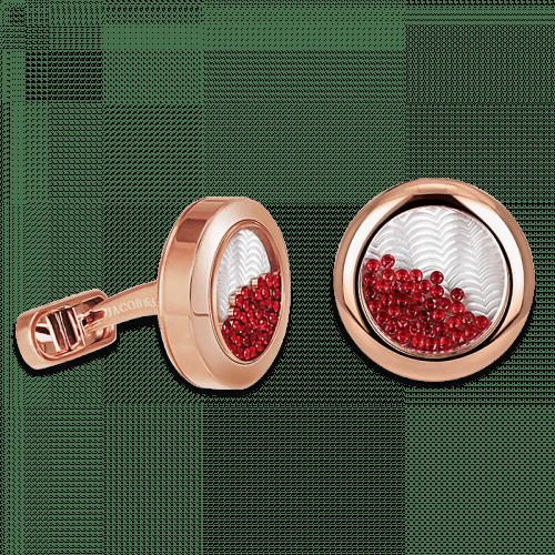 Circular Cufflinks Floating Rubies