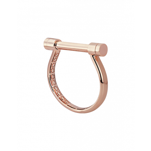 Plain Rose Gold Estribo Bangle