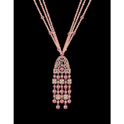 Jezebel Pink Sapphire and Diamond Pendant