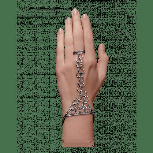 Black Gold Ring Bracelet