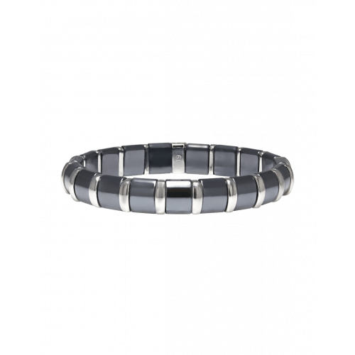 Hematite Bracelet 19 Stainless Steel Bars