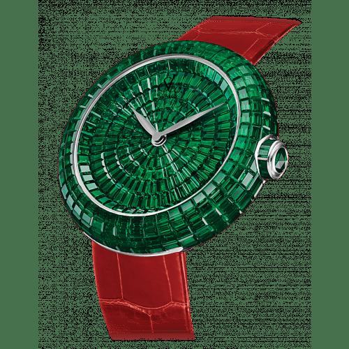 Brilliant Full Baguette Emeralds 38mm