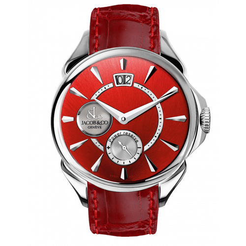 Palatial Classic Manual Big Date Red Sunray Dial - Steel Case