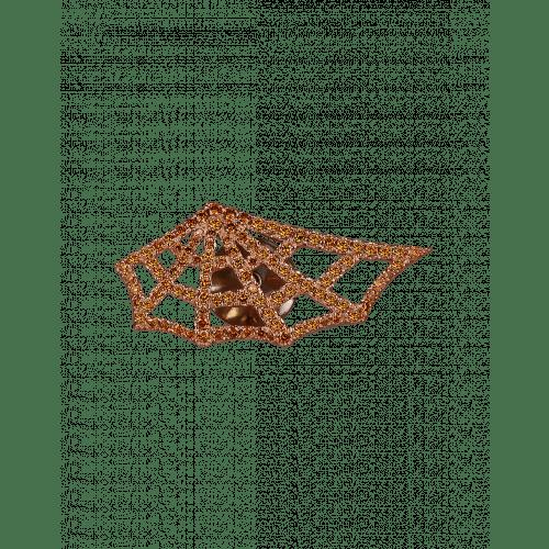Jacob's Web Rose Gold Orange Diamond  Gentleman's Stickpin